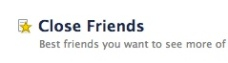 Facebook Close Friends
