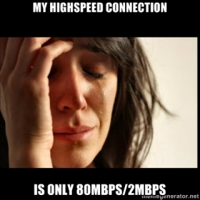 My Highspeed Connection is Only 80Mbps/2Mbps