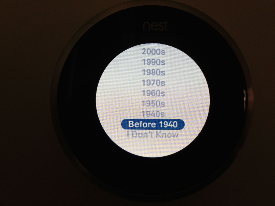 Nest Setup House Age
