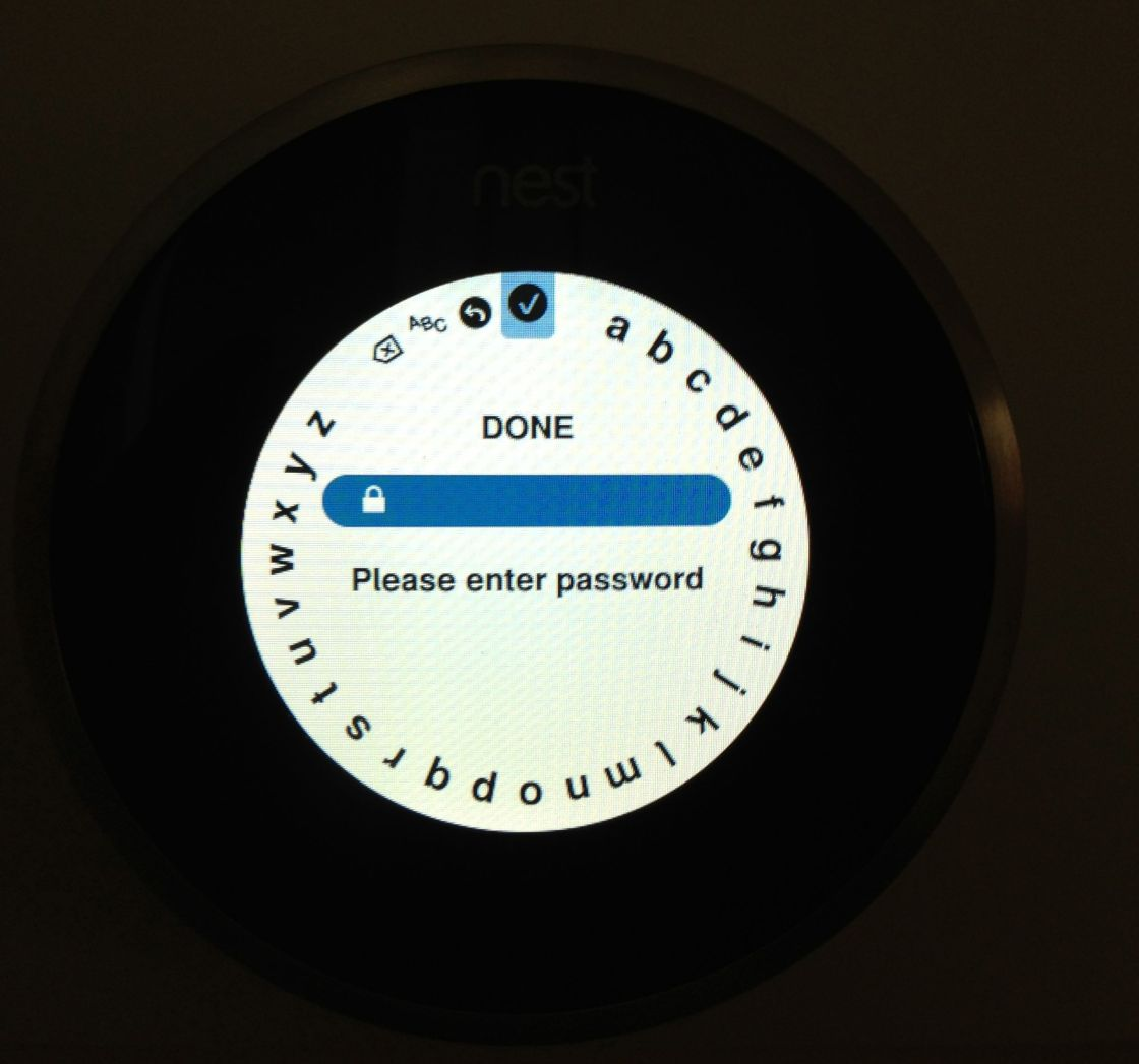 Nest Setup Wifi Password