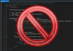 Just Say No To Code